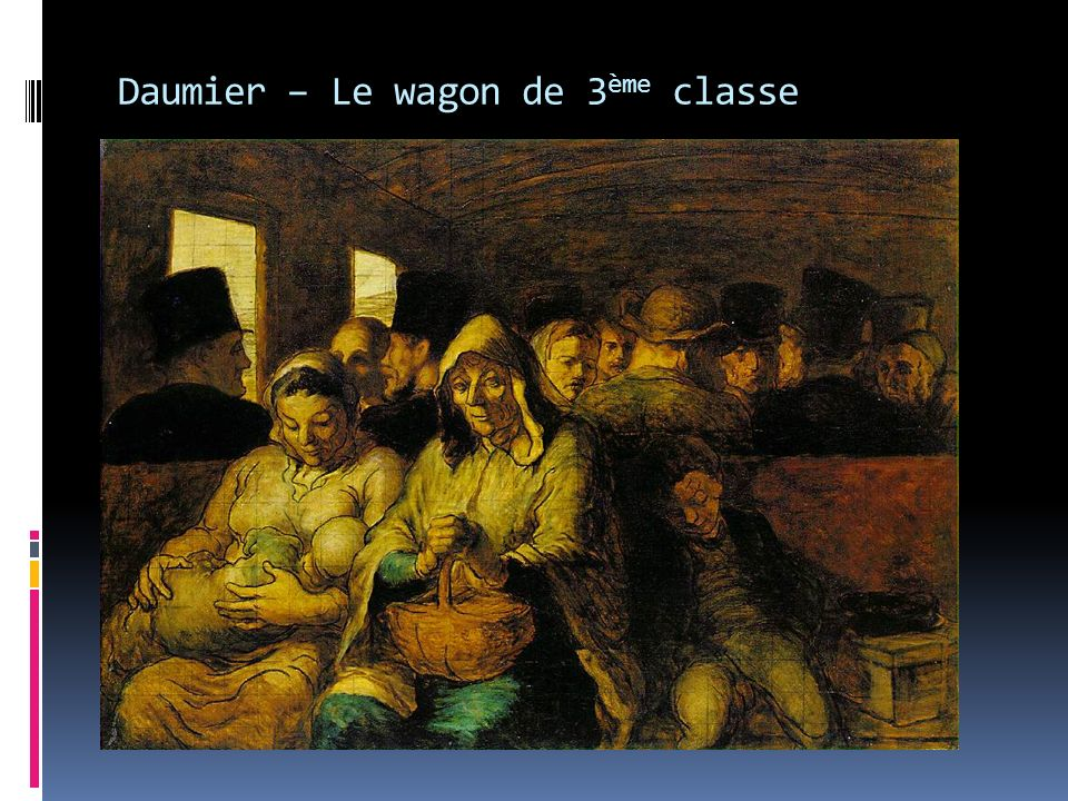 Daumier – Le wagon de 3ème classe