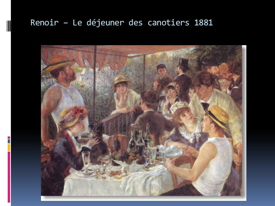 Renoir – Le déjeuner des canotiers 1881