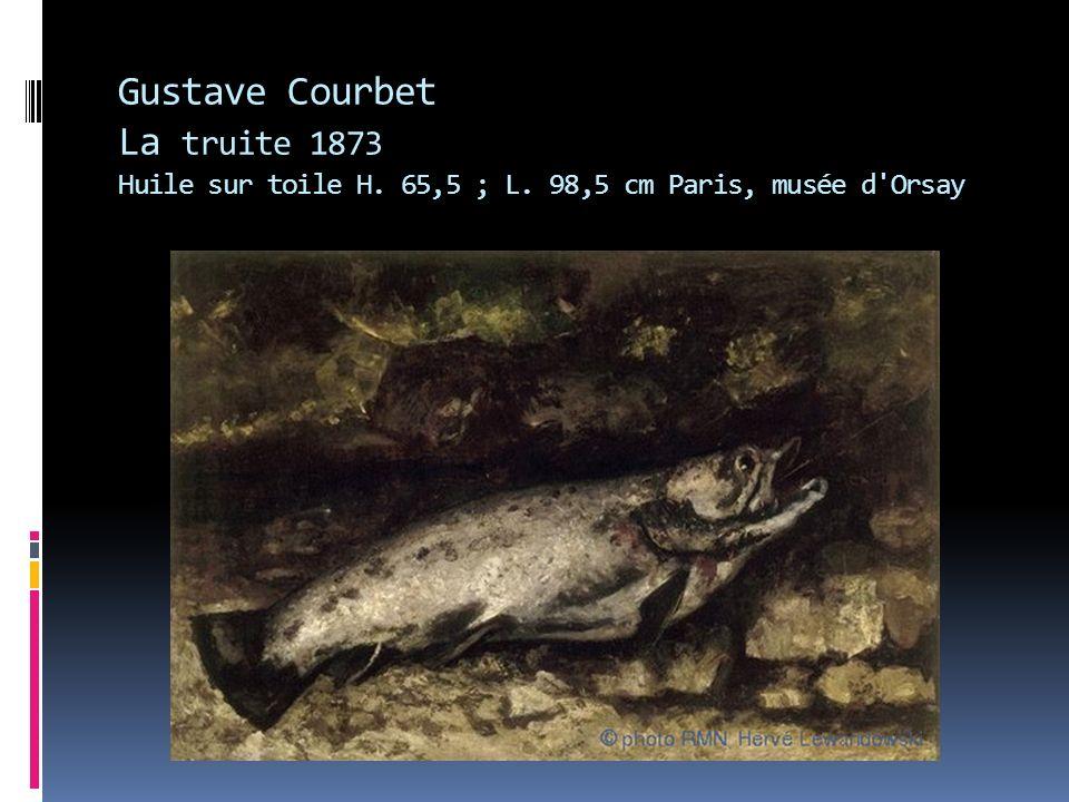 Gustave Courbet La truite 1873 Huile sur toile H. 65,5 ; L