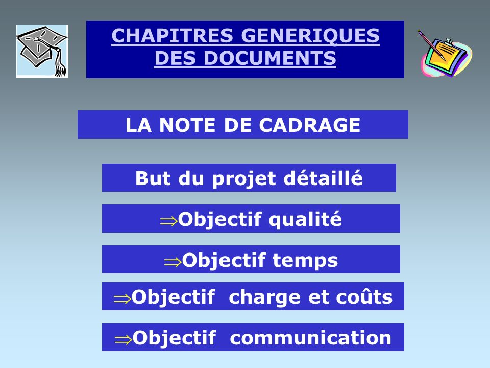 CHAPITRES GENERIQUES DES DOCUMENTS