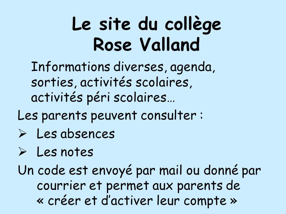 Le site du collège Rose Valland
