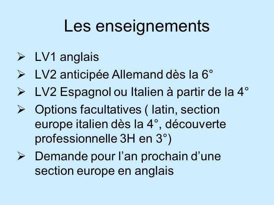 Les enseignements LV1 anglais LV2 anticipée Allemand dès la 6°