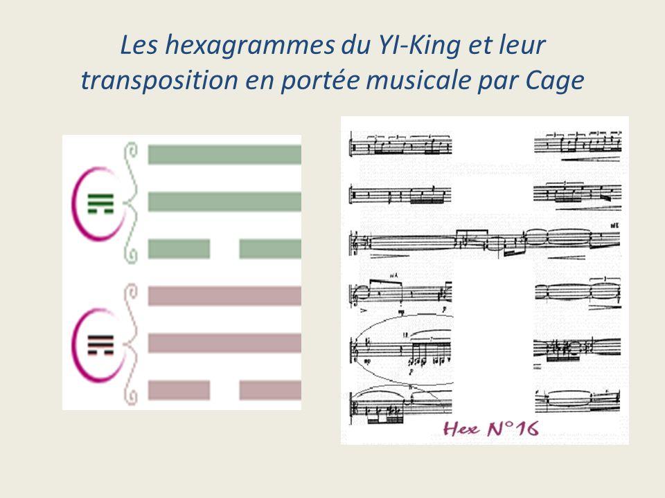 Les hexagrammes du YI-King et leur transposition en portée musicale par Cage