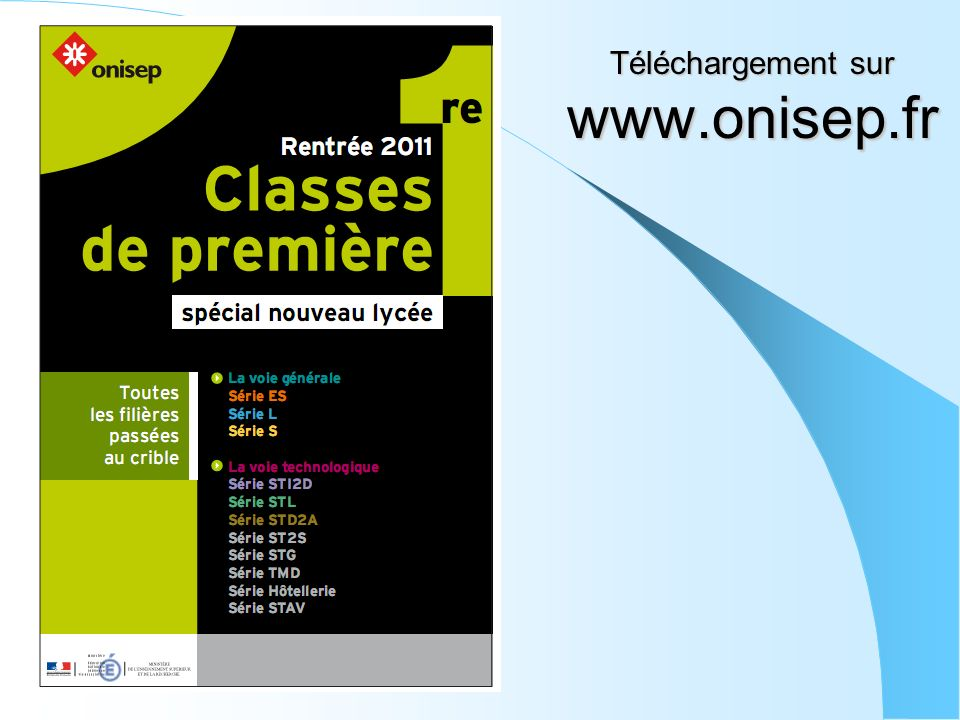 Téléchargement sur www.onisep.fr