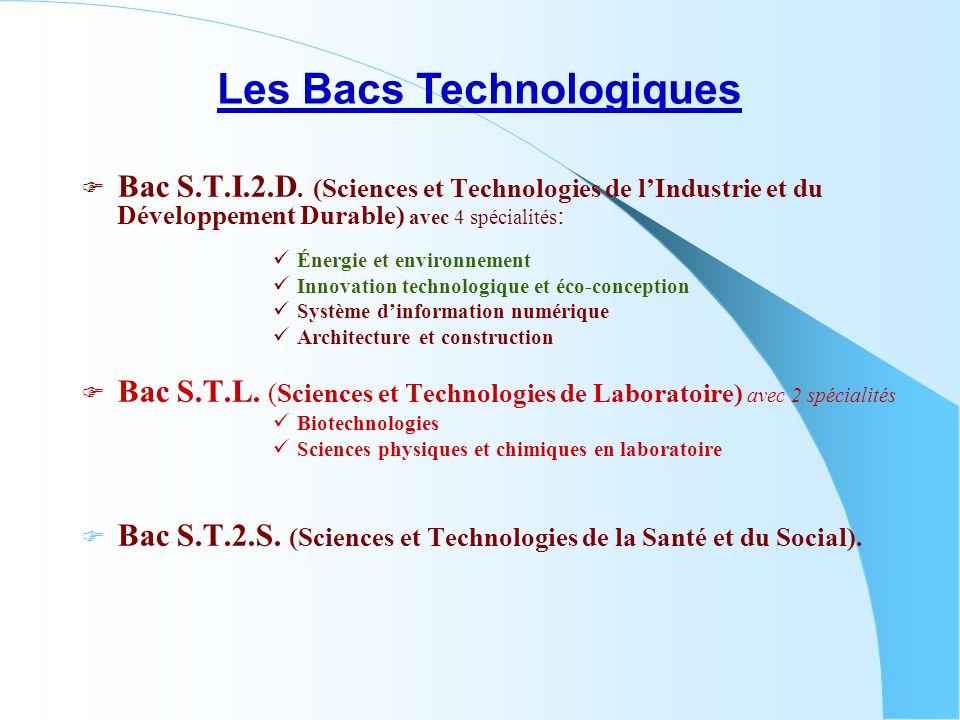 Les Bacs Technologiques