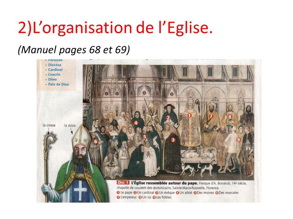 2)L'organisation de l'Eglise.