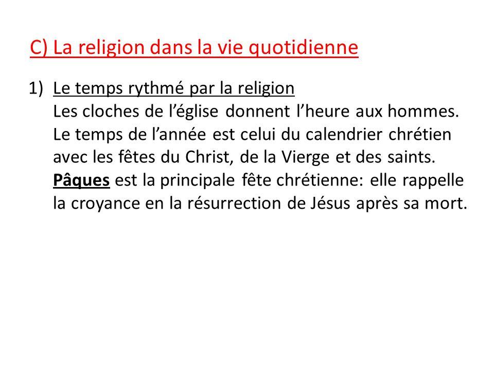 C) La religion dans la vie quotidienne
