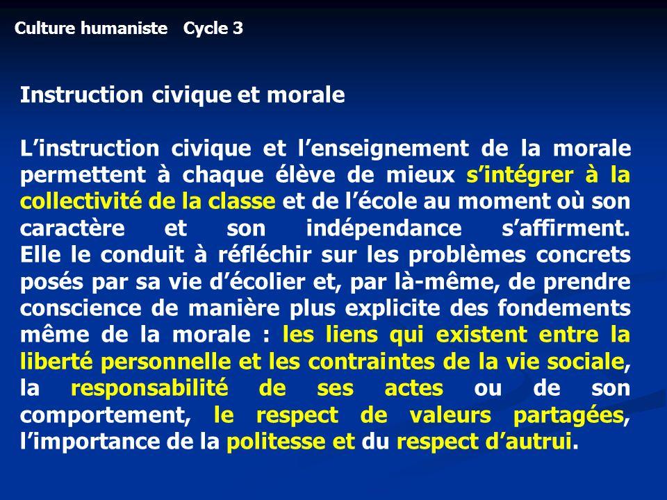 Instruction civique et morale