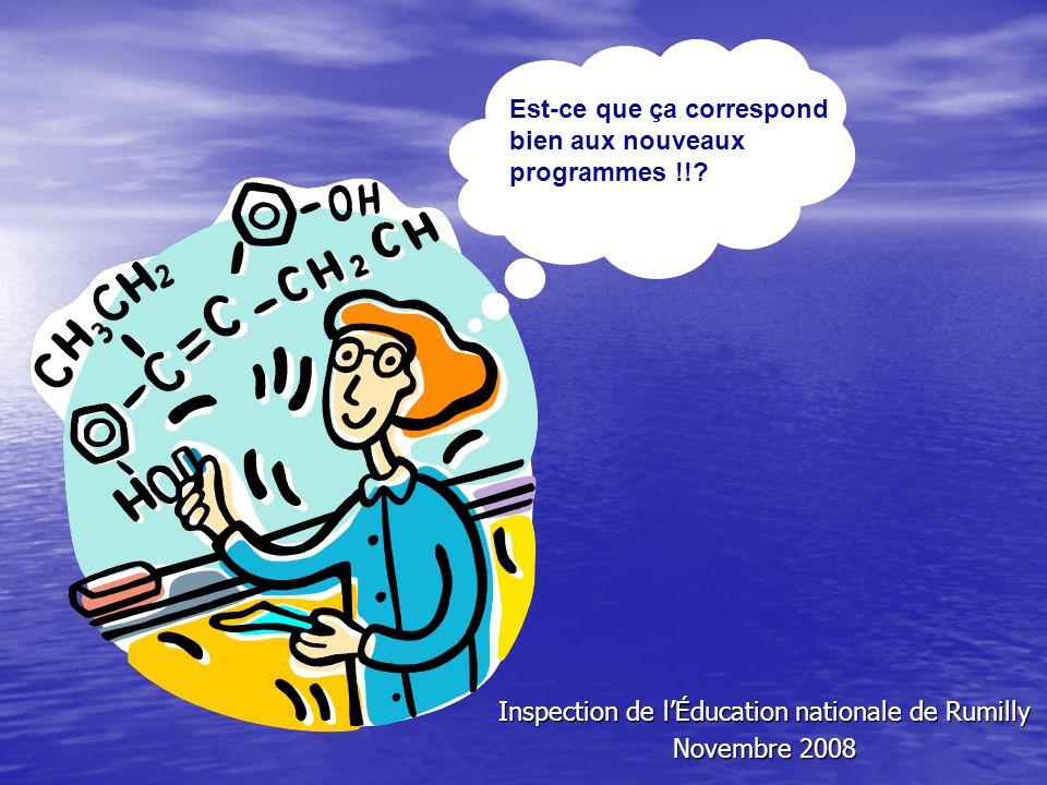 Inspection de l'Éducation nationale de Rumilly Novembre 2008