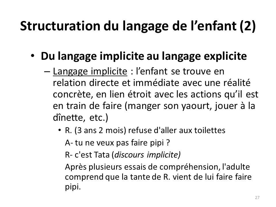 Structuration du langage de l'enfant (2)