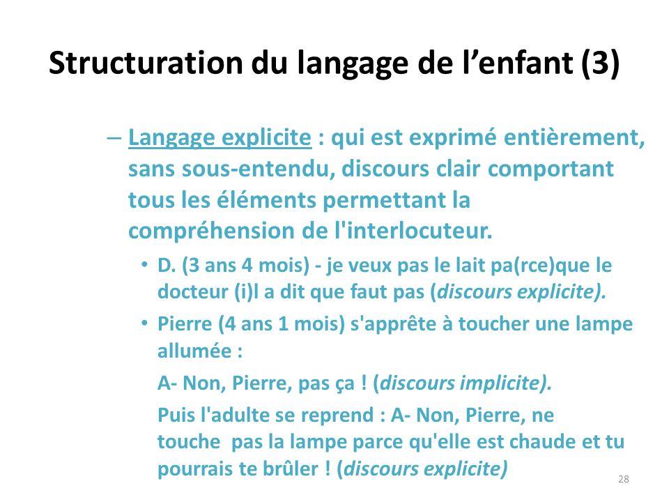 Structuration du langage de l'enfant (3)