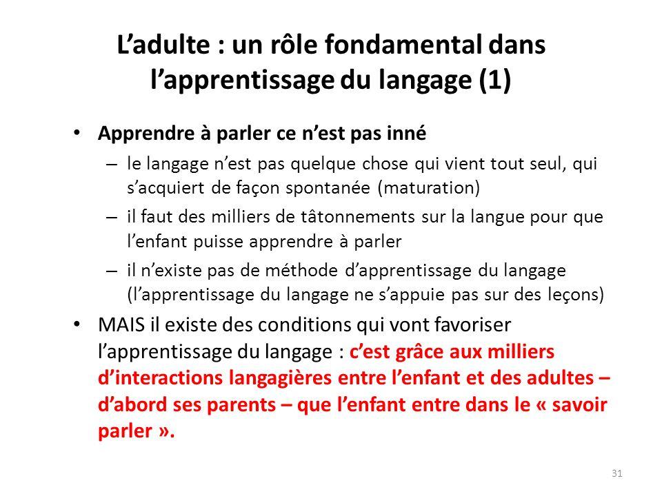 L'adulte : un rôle fondamental dans l'apprentissage du langage (1)