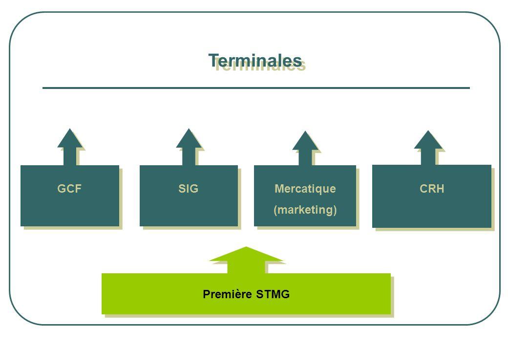 Terminales GCF SIG Mercatique (marketing) CRH Première STMG