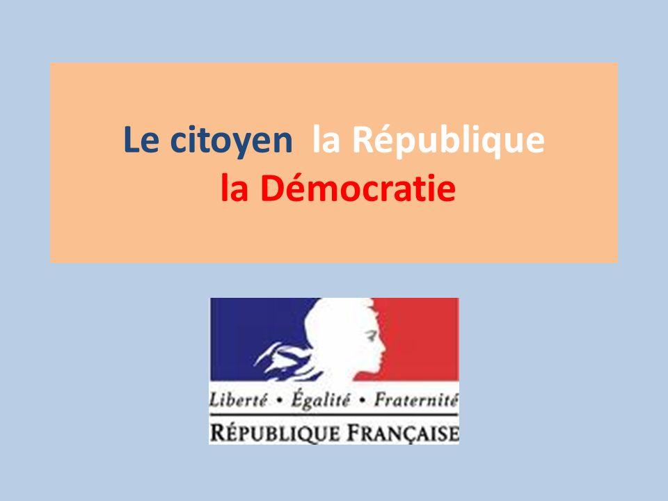 Le citoyen la République la Démocratie