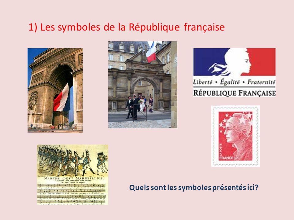1) Les symboles de la République française