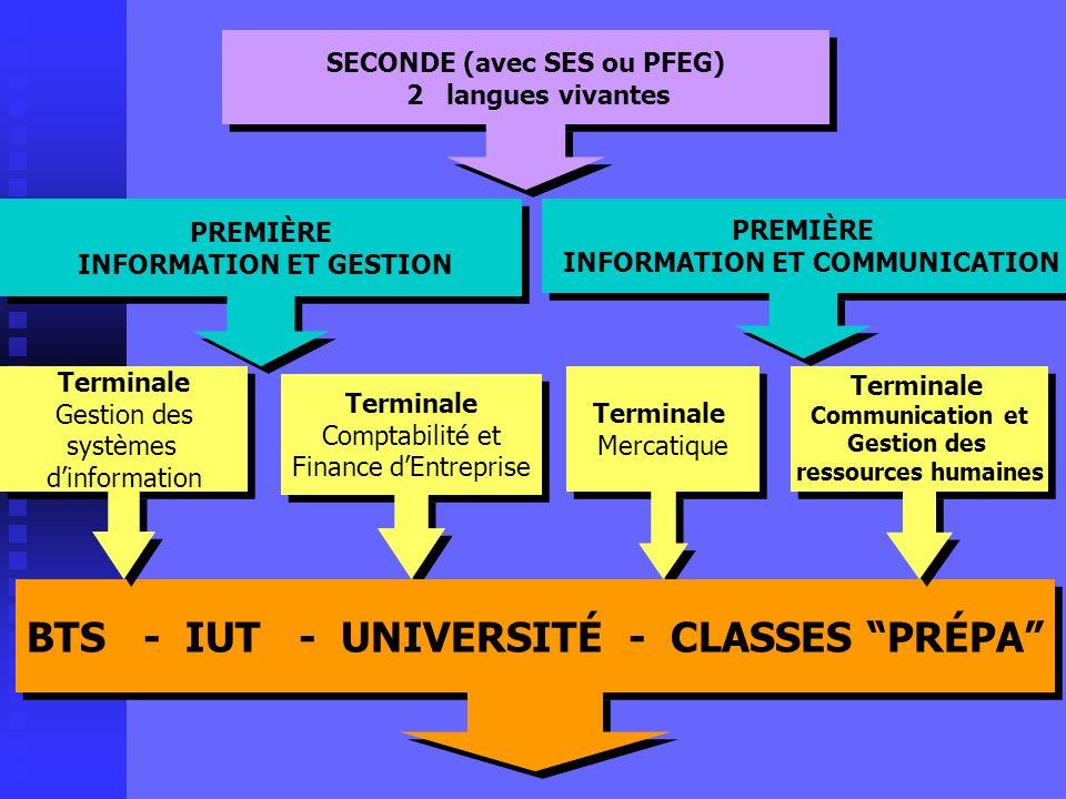 BTS - IUT - UNIVERSITÉ - CLASSES PRÉPA