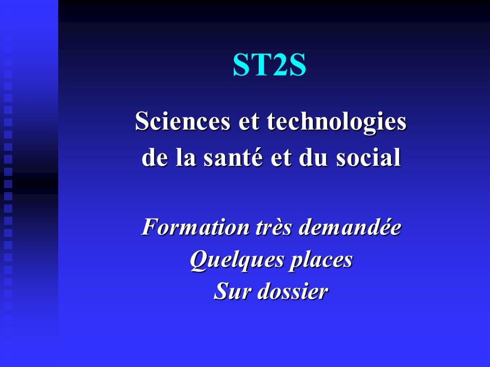 Sciences et technologies Formation très demandée