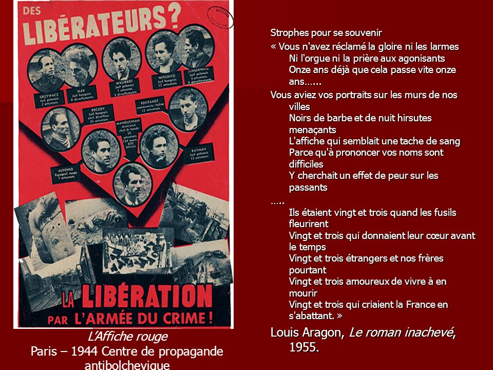 Paris – 1944 Centre de propagande antibolchevique