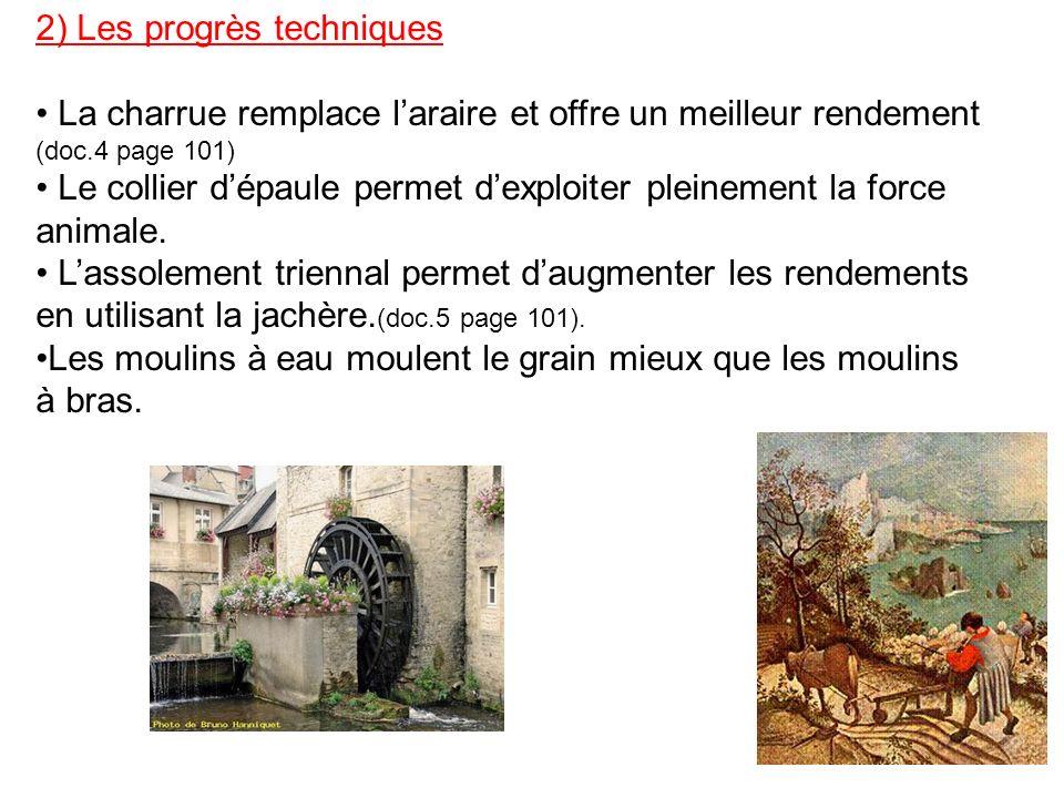 2) Les progrès techniques