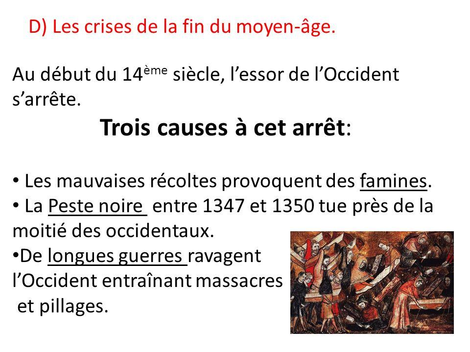 D) Les crises de la fin du moyen-âge.