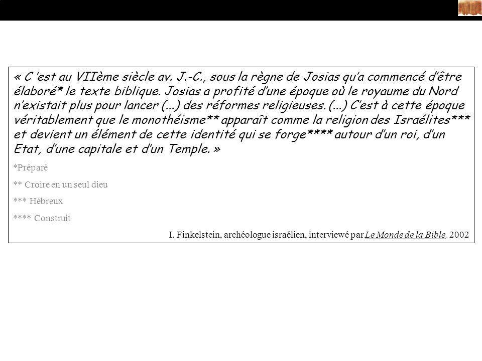 « C 'est au VIIème siècle av. J. -C
