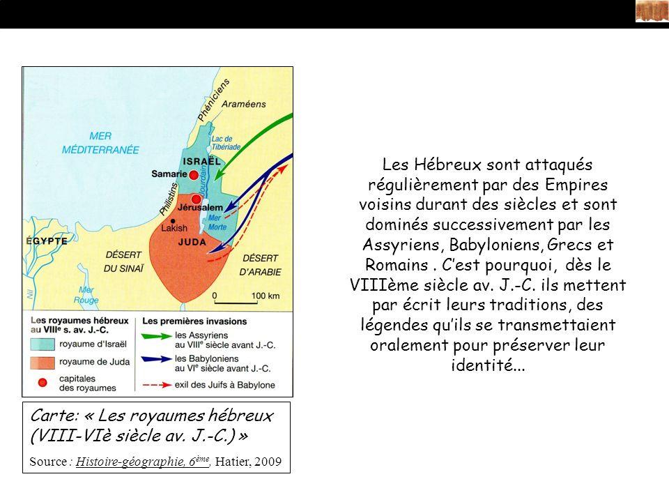 Carte: « Les royaumes hébreux (VIII-VIè siècle av. J.-C.) »