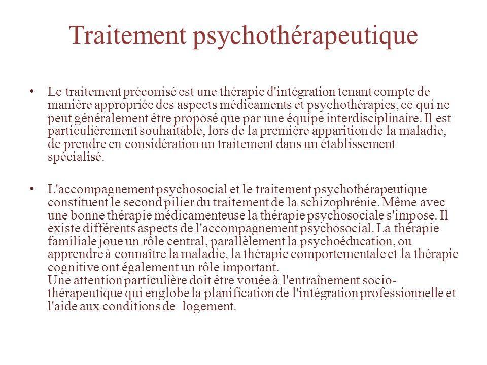 Traitement psychothérapeutique