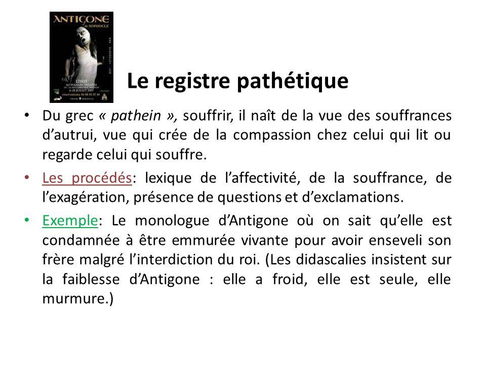 Le registre pathétique