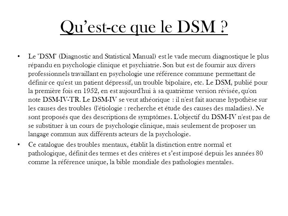 Qu'est-ce que le DSM