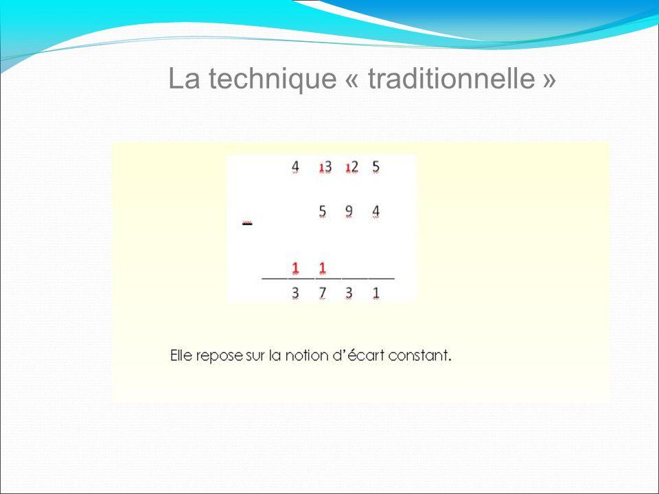La technique « traditionnelle »
