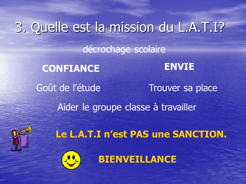 3. Quelle est la mission du L.A.T.I