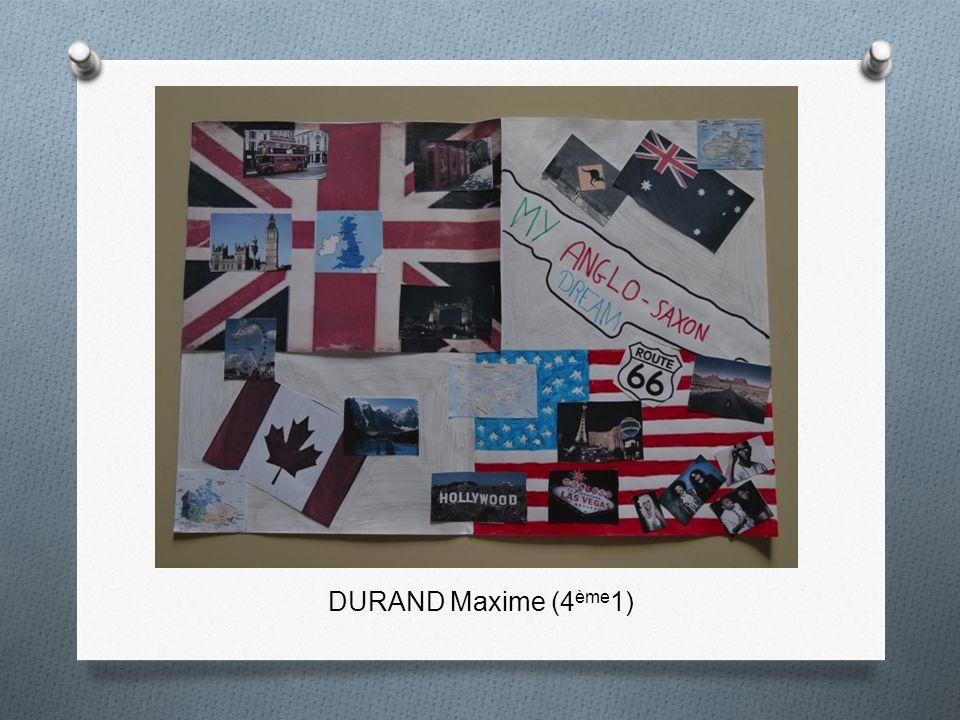 DURAND Maxime (4ème1)