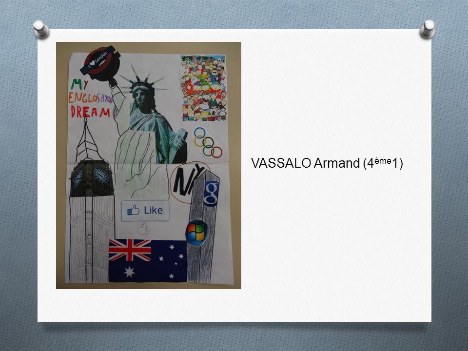 VASSALO Armand (4ème1)
