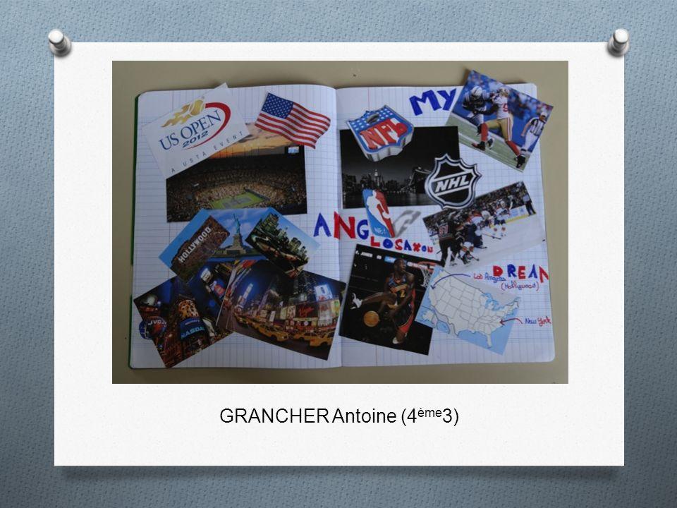 GRANCHER Antoine (4ème3)