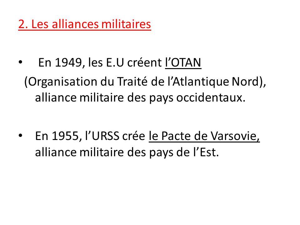 2. Les alliances militaires