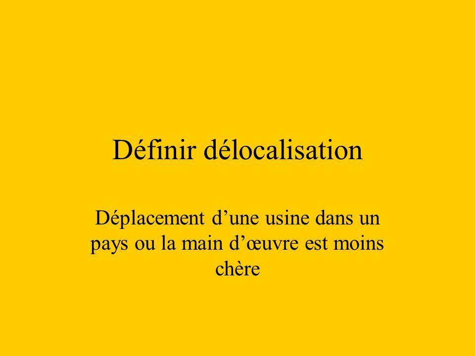 Définir délocalisation