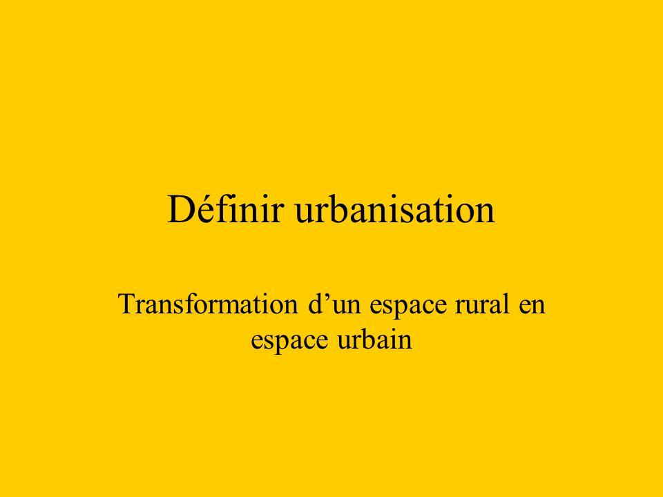 Transformation d'un espace rural en espace urbain