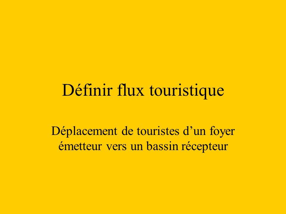 Définir flux touristique