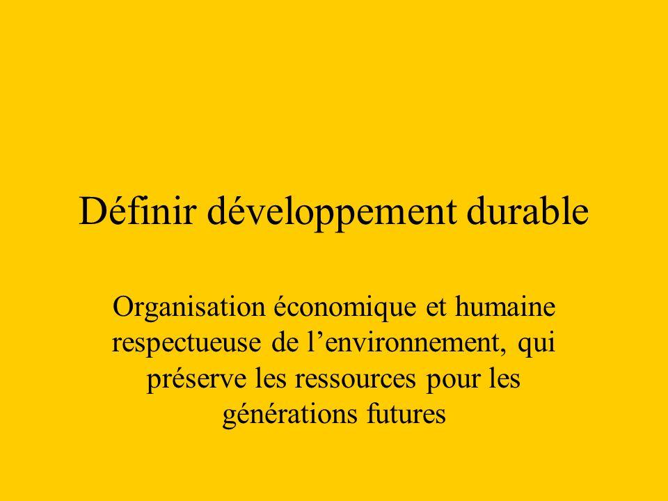 Définir développement durable