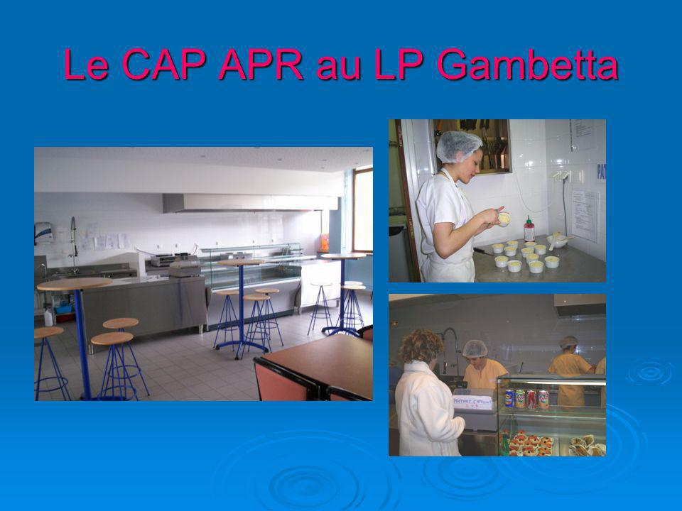Le CAP APR au LP Gambetta