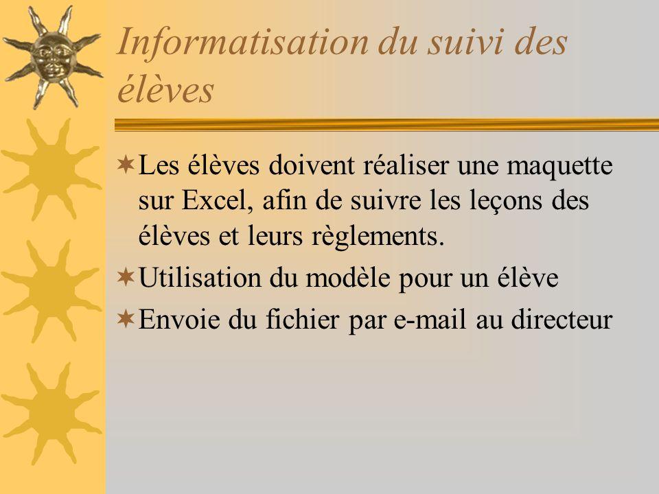 Informatisation du suivi des élèves
