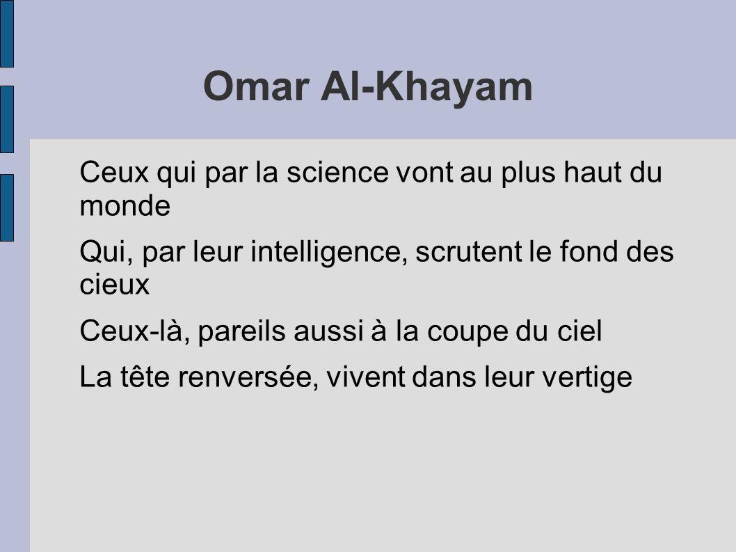Omar Al-Khayam Ceux qui par la science vont au plus haut du monde