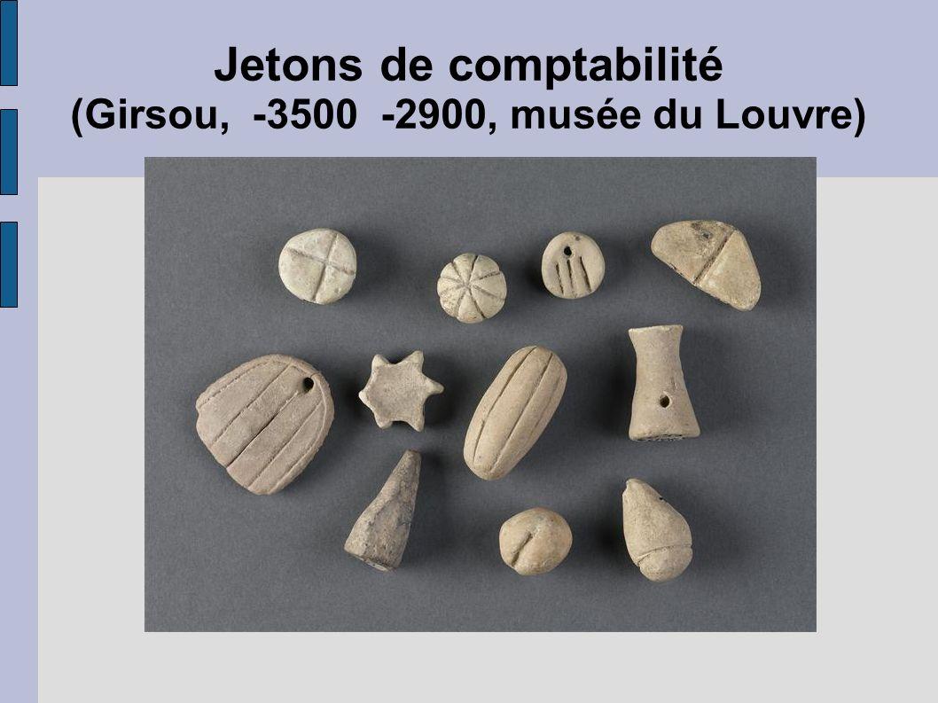 Jetons de comptabilité (Girsou, -3500 -2900, musée du Louvre)
