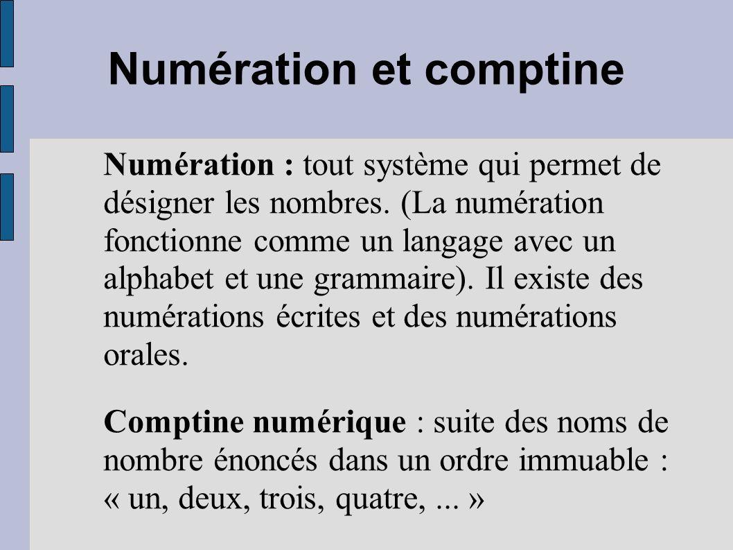 Numération et comptine