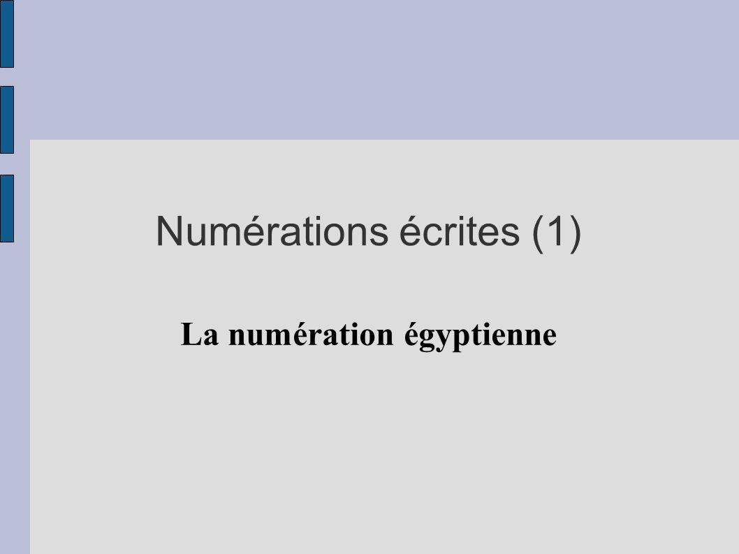 Numérations écrites (1)