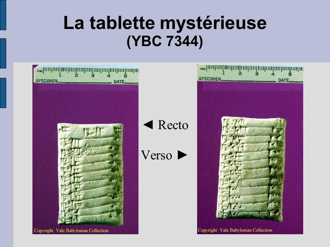La tablette mystérieuse (YBC 7344)