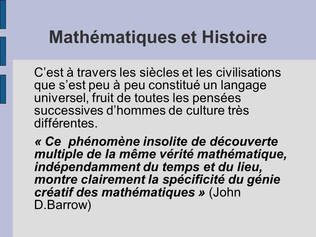 Mathématiques et Histoire