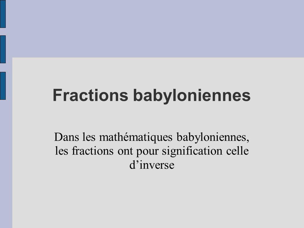 Fractions babyloniennes