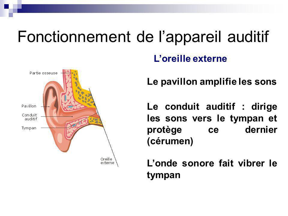 Fonctionnement de l'appareil auditif