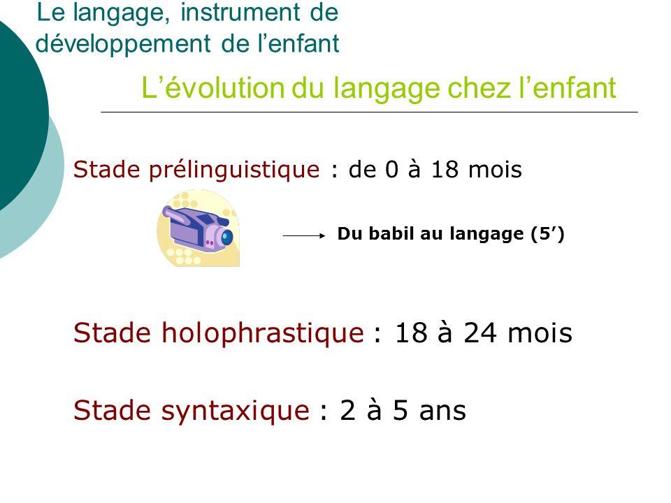 L'évolution du langage chez l'enfant